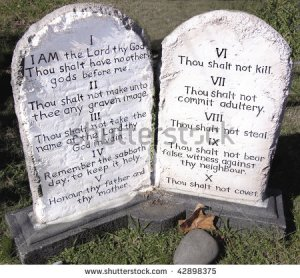ten-commandments-stone-tablets-42898375 shutterstock