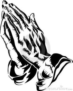 praying hands man
